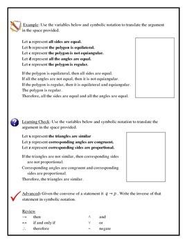 Geometry - Logic, Symbolic Notations, Venn Diagrams