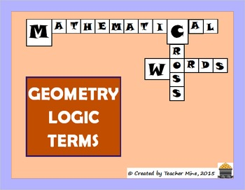Geometry Logic Terms Crossword