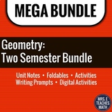Geometry Full Year Curriculum BUNDLE | Notes, Activities,