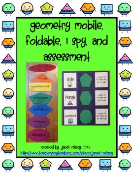 Geometry Made Fun Craftivity and Foldable with Assessment
