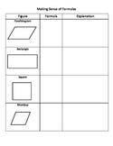 Geometry: Making Sense of Formulas