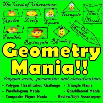 2-D Geometry Unit: Area and Perimeter, Classifying Quadril