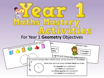 Geometry Mastery Activities – Year 1