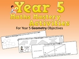 Geometry Mastery Activities – Year 5