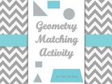 Geometry Match Up Math Cut and Paste Center Activity