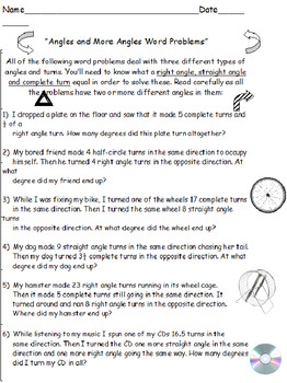 Geometry MatchUps PLUS Angles Word Problems (Both Sets)
