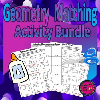 Geometry Matching Activities - BUNDLE