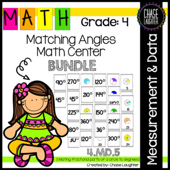 Geometry: Matching Angles {Math Center} 4.MD.5