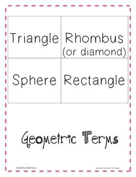 Identifying Shapes:Geometry Matching Game-Kindergarten