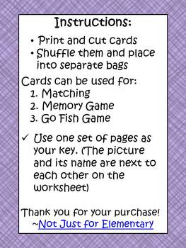 Geometry: Matching, Memory, or Go Fish Game