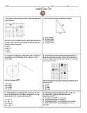 Math 1 Geometry EOC Review Test