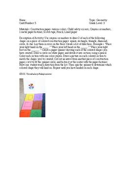 Geometry Math Activities
