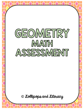 Geometry Math Assessment