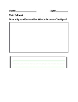 Geometry Math Bellwork