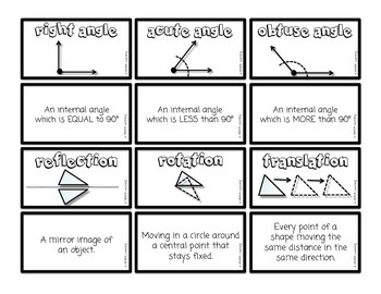 Geometry - Math Cards (Common Core Aligned)
