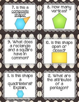Geometry Math Centers 1st grade