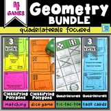 Quadrilaterals and Polygons Geometry Centers & Games Bundle