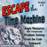 Math Escape Room Geometry : Angle Measures, Transversals & Crack the Code