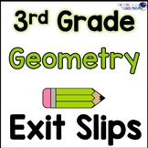 Geometry Shape Attributes Math Exit Slips 3rd Grade Common Core