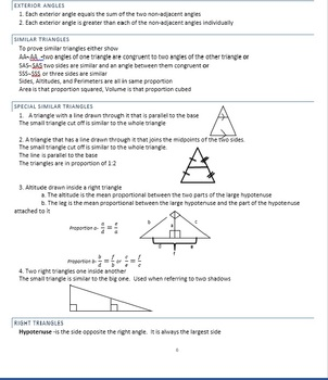 Geometry Math Facts Ebook