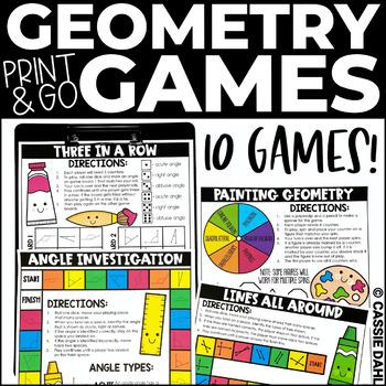 Geometry Math Games (Print & Go)