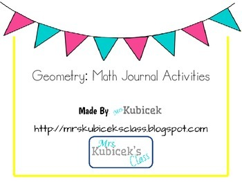 Geometry Math Journal Activities