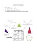 Geometry Math Menu