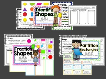 Geometry Math Stations for Second Grade