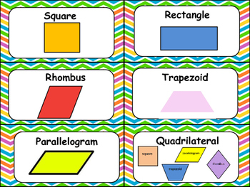 Geometry Math Vocabulary