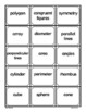 Geometry - Math Vocabulary Trading Cards - Math Games and Activities