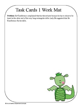 Geometry Math and Literacy Task Cards- Sir Cumference and the First Round Table