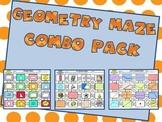 Geometry Maze Bundle: Lines, Angles, Polygons, and 3-D Shapes