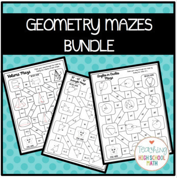 Geometry Mazes Bundle