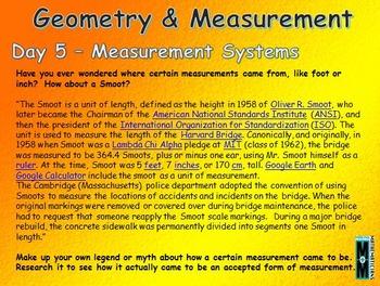 Geometry & Measurement Daily Math Slides