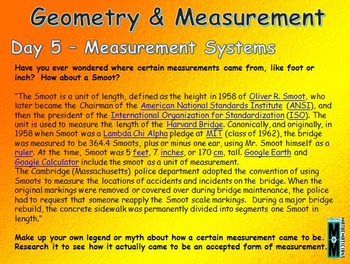 Geometry & Measurement Daily Math Slides