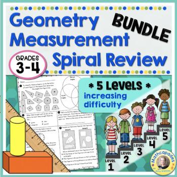 Geometry Measurement Spiral Review BUNDLE