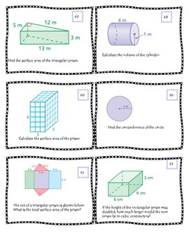 Geometry  Task Cards 78 ~~~ Middle School Math