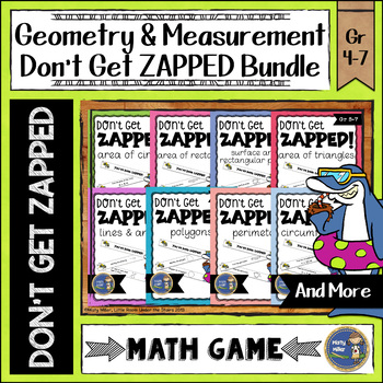 Geometry and Measurement Don't Get ZAPPED Math Game Bundle