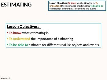 Geometry: Measures 4 - Estimating Measures (scale / ratio) and Review
