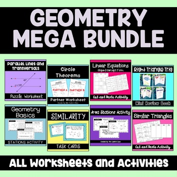 Geometry Mega Bundle: Activities and Puzzle Worksheets