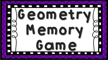 Geometry Memory / Concentration Game