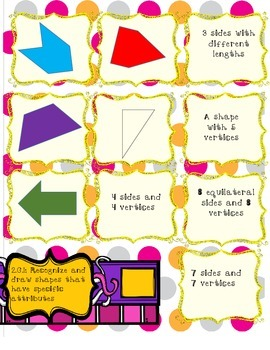 Geometry Memory Game! 3 differentiated levels! CCSS aligned!