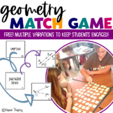 Geometry Memory Match Game/ Geometry Card Sort