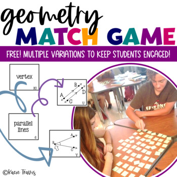 Geometry Memory Match Game/ Geometry Card Sort