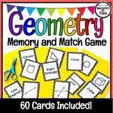 Geometry Memory & Match Game - Go Fish - Vocabulary Activity - Math Station