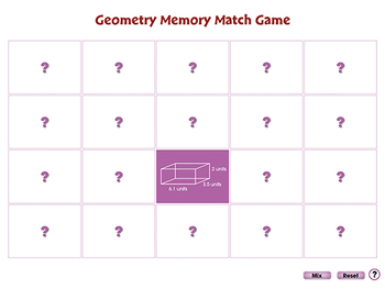 Geometry: Memory Match Game - NOTEBOOK Gr. 6-8