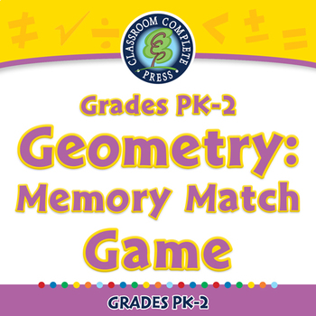 Geometry: Memory Match Game - NOTEBOOK Gr. PK-2