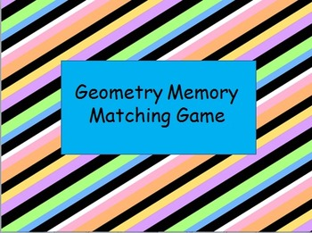 Geometry Memory Matching Game