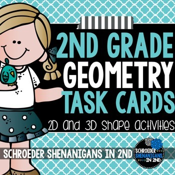 Geometry vocabulary memory activity cards