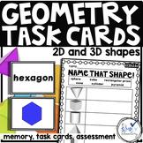 Geometry vocabulary memory activity cards